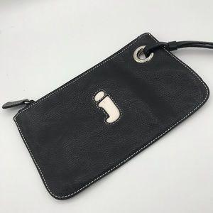 "Handbags - Vintage Leather Initial ""j"" Wristlet Clutch Wallet"